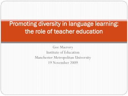 Promoting diversity in language learning: the role of