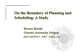 Conceptual Models for Combined Planning and Scheduling
