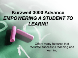 Kurzweil 3000 - Laredo Independent School District