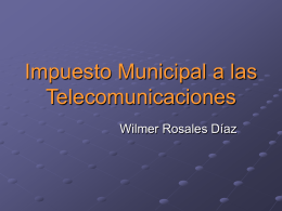 Impuesto Municipal a las Telecomunicaciones