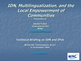 KF MINC ICANN IDN workshop, Kuala Lumpur July 21