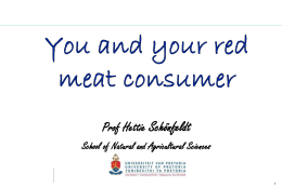 Healthy eating - South African Feedlot Association