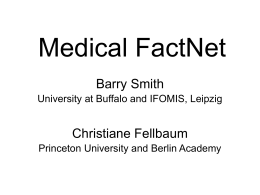 Medical FactNet - University at Buffalo