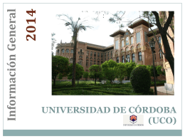UNIVERSITY OF CORDOBA (UCO)
