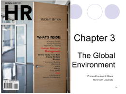 Chapter 3 The Global Environment