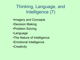 Cognition, Language, and Creativity