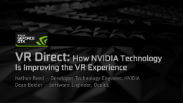 VR Direct: How NVIDIA Technology Is Improving the VR