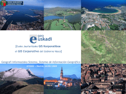 SIG Corporativo - Geoportal IDEE