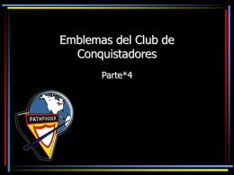 Emblemas del Club de Conquistadores