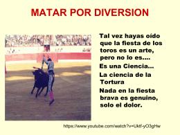 MATAR POR DIVERSION