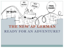 The new AP German Test