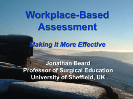 Validation of Work Place Based Assessment