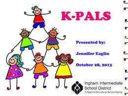 K-PALS, 1st Grade PALS