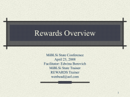 REWARDS - Behavior and Reading Support in Michigan