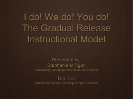 I do! We do! You do! The Gradual Release Instructional