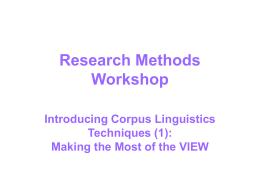 LG3204 Corpus Linguistics