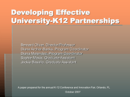 Developing Effective University