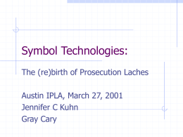 Symbol Technologies: - Austin Intellectual Property Law