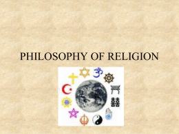Philosophy of Religion - University of Missouri