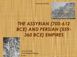 THE ASSYRIAN EMPIRE - Chandler Unified School District