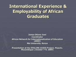 International Experience & Employability of African …