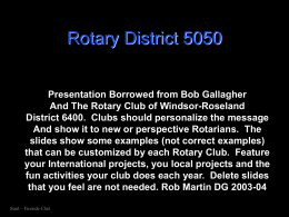 Rotary District 5050