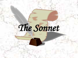 The Sonnet - SCF Faculty Site Homepage