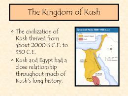 The Kingdom of Kush - Hale Charter Academy