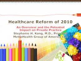 Healthcare Reform of 2010