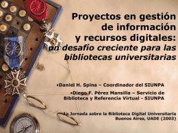 1era. Jornada sobre la Biblioteca Digital Argentina