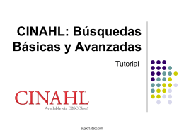 CINAHL Basic Searching