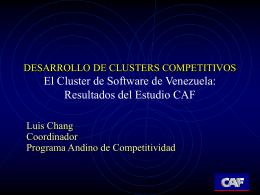 DESARROLLO DE CLUSTERS COMPETITIVOS El Cluster de …