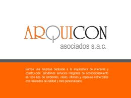 Diapositiva 1 - Presentando: Arquicon Asociados