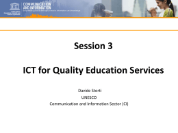 ICT for Quality Education Services