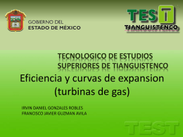 Eficiencia y curvas de expansion (turbinas de gas)