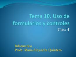 Tema 10. Uso de formularios y controles