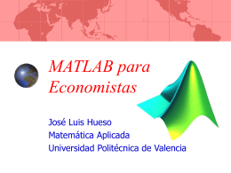 MATLAB para Economistas