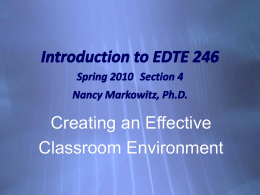 Introduction to EDTE 246 - San Jose State University