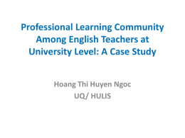 Professional Learning Community Among English Teachers …