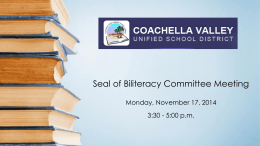 Coachella Valley Unified School District Seal of