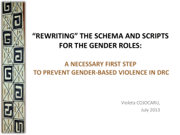 "REWRITING"" THE SCHEMA AND SCRIPTS FOR GENDER …"