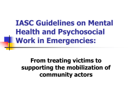 IASC Guidelines on Mental Health and Psychosocial …