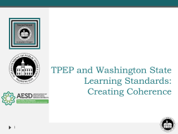 Washington State Teacher/Principal Evaluation Program
