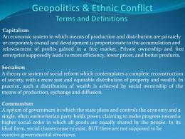 Geopolitics & Ethnic Conflict