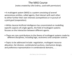 The MAS Course - Utah State University