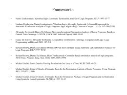 Frameworks: