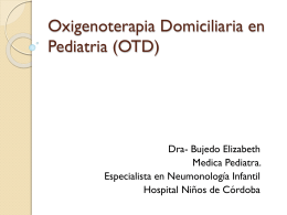 Oxigenoterapia Domiciliaria en Pediatria