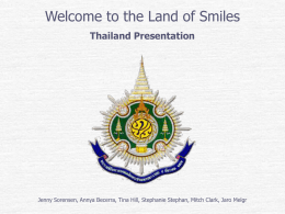 Thailand: The Land of Smiles - BYU
