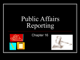 Public Affairs Reporting