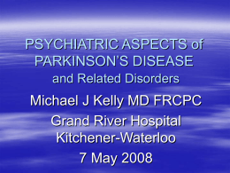Parkinson's Disease: Epidemiology